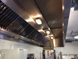 Commercial kitchen air extraction installation