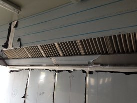 Stainless steel commercial kitchen extraction canopy
