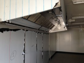 Stainless steel commercial kitchen wall cladding