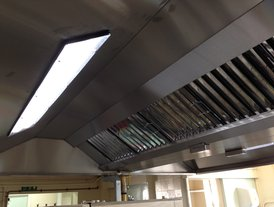 Bespoke stainless steel cooker extraction hood