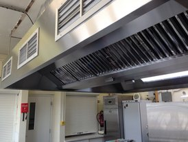 Custom built and installed kitchen air extraction and filtration system