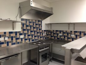 Stainless steel kitchen extractor unit