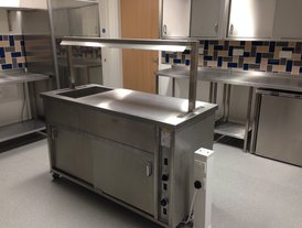 Stainless steel mobile kitchen island unit