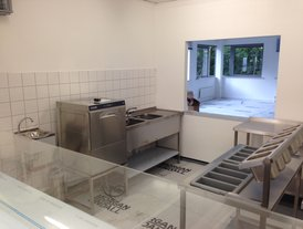 Stainless steel dish washing facilities