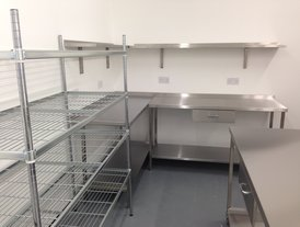 Stainless steel kitchen storage racking