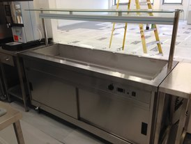Stainless steel bain marie kitchen service counter