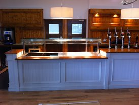 Food service counter design and manufacture