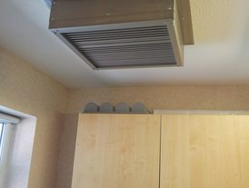Stainless steel kitchen fresh air input vent