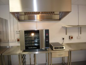 Blue Seal Turbo fan oven and Lincat Induction hob