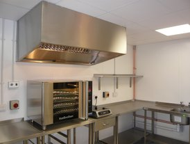 Blue Seal Turbo fan oven and Lincat Induction hob and stainless steel worktops