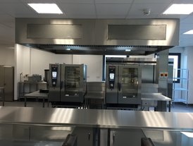 New stainless steel school kitchen