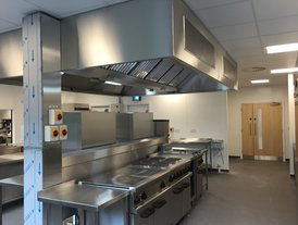 Ovens and stainless steel ventilation system