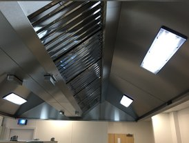 Kitchen fresh air inlets and lighting