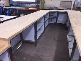Solid oak top kitchen and coffee service counter