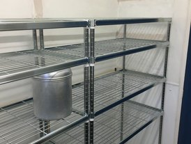 4 tier stainless steel kitchen dry storage racking unit