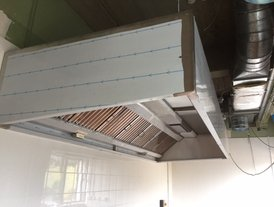 New stainless steel extraction canopy