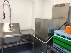 New dish washer with stainless steel tables