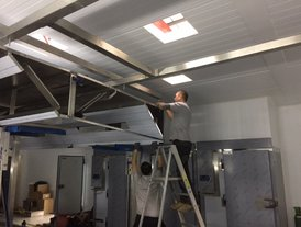 Kitchen canopy assembly in progress